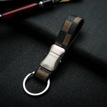 Brand HONEST Men Keychain Car Key Ring Holder Jewelry Bag Pendant Key Chain Gift Business Leisure Genuine Leather Keychains - leathernbags