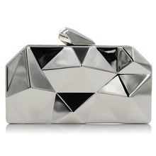 Milisente Women Metal Clutches Top Quality Hexagon Mini Party Black Evening Purse Silver Bags Gold Box Clutch - leathernbags