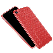 BASEUS For Apple iPhone X/10 6s 6 Plus Case BV Woven Texture Heat Dissipation TPU Mobile Case For iPhone 7 8 7Plus 8Plus - leathernbags