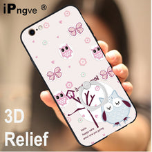 ipngve 3D Relief Printing Soft TPU+PC Hard Back Cover Case For iPhone 6 6S With Ring Holder Phone Bag Coque For iphone 6 6S Plus |  USA I USA - leathernbags