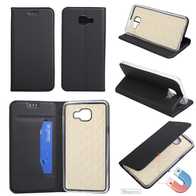 For Samsung A5  Case Ultra-thin Leather Wallet Magneitc Flip Cover Case For Samsung Galaxy A5  With Stand - leathernbags