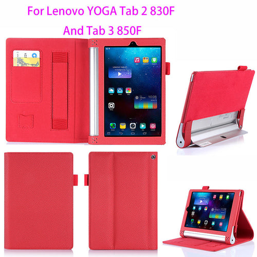 Luxury Leather Case For Lenovo yoga tablet 2 830f 830L Cover For Lenovo yoga tab 3 850F 850L 8.0 inch Case Hands Holder Funda