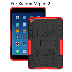 "Hybrid TPU+PC Case For Xiaomi Mipad 2 Cover For MiPad 3 7.9"" Mipad3 mipad2 Tablet Tablet Dazzle Shockproof KickStand Stand Shell"