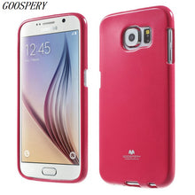 For Samsung S6 Case Original Mercury GOOSPERY Flash Powder Flexible TPU Silicon Phone Cover Case For Samsung Galaxy S6 G920 - leathernbags