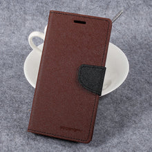 For LG G 6 Case Original Mercury Goospery Fancy Diary Card Slots Leather Wallet Flip Case Cover for LG G6 5.7 inch - leathernbags
