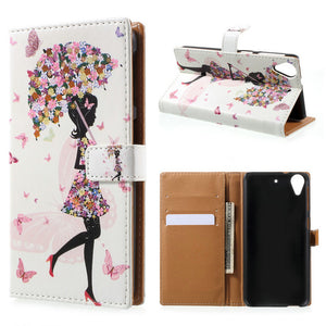 For HTC Desire 650 Case Pattern Printing Card Holder Wallet Leather Cell Phone Cover Case For HTC Desire 650 - leathernbags