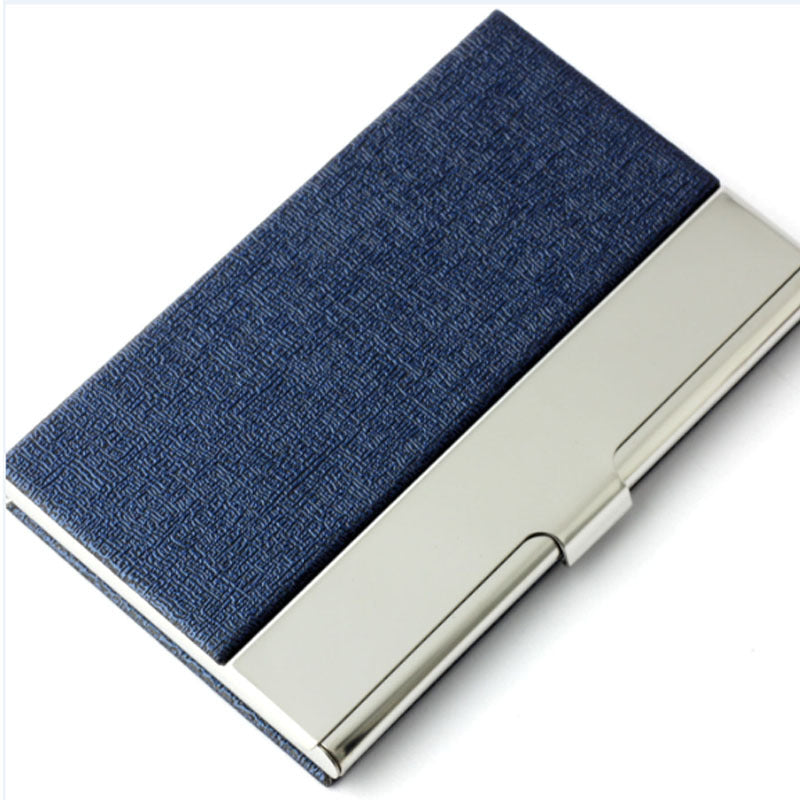 New brand aluminum with pu leather mens business card holder port new brand aluminum with pu leather mens business card holder portable id card case for women colourmoves