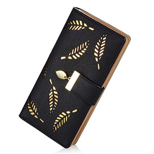 Long Women Wallets Fashion Hollow Design Laides Purse Made of PU Leather Luxury Women Long Clutch Female Wallets Large Capacity |  USA I USA