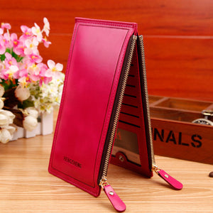 High Capacity Card Wallet Hot Sales Unisex Credit Card Holder Wallets High Quality Slim Long Card Organizer Holder Long Design