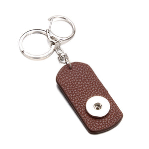 Leather Snap Keychain Jewelry 20 Designs 18mm Snap button key chain Fit 18mm 20mm Snap jewelry Keyring |  USA I USA - leathernbags