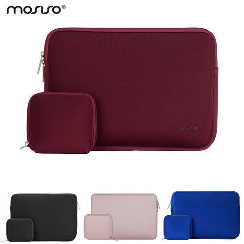 Mosiso 11.6 13.3 15.6 inch Laptop Sleeve Bag Waterproof Notebook Computer Handbag Case for MacBook Air Pro 11 12 13 15 Asus HP - leathernbags
