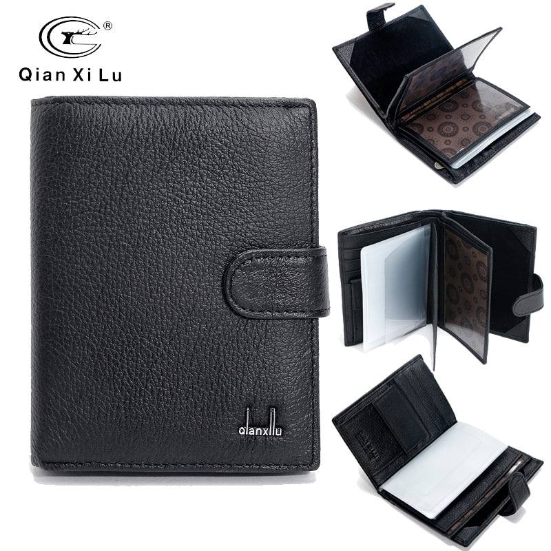Famous Brand Large Bifold Travel Wallets Passport Bag Genuine Real Leather Wallet Credit ID Card Slots Coin Pouch Purse - leathernbags