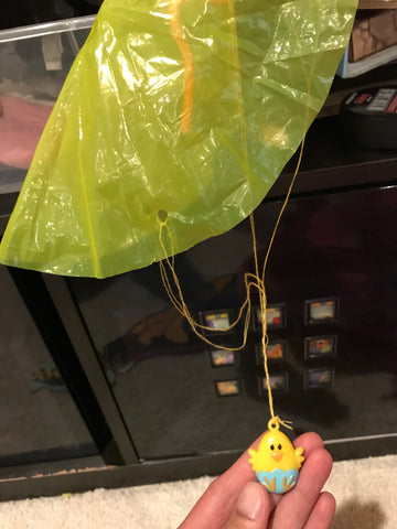 Parachute chicken toy