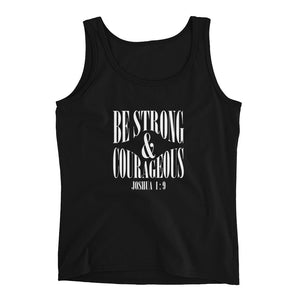 Be Strong and Courageous Joshua 1:9 Christian Ladies' Tank