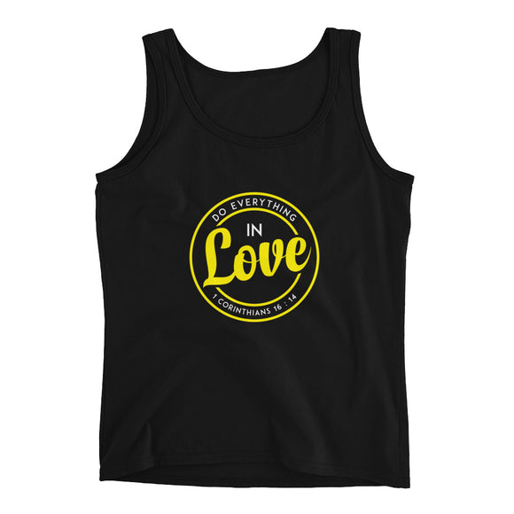 Do everything in love 1 Corinthians 16:14 Christian tank top