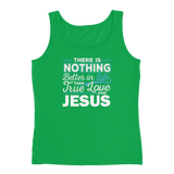 Christian tank top green apple with funny clean joke design: there is nothing better in life than true love and Jesus
