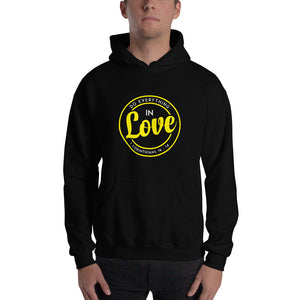 Christian hoodie black with encouraging bible verse design from 1 Corinthians 16:14 - Do everything in love