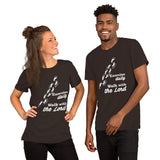 Christian t shirt brown with funny clean joke design: exercise daily walk with the Lord
