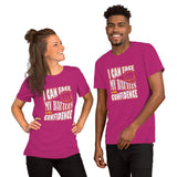 Christian t shirt berry with encouragement quote design: I can face my battles with confidence