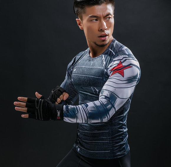WINTER SOLDIER Long Sleeve Compression Shirt