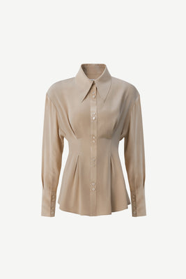 2-Tucks shirt in beige