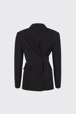 [60% OFF] Black center back slit 2-way blazer