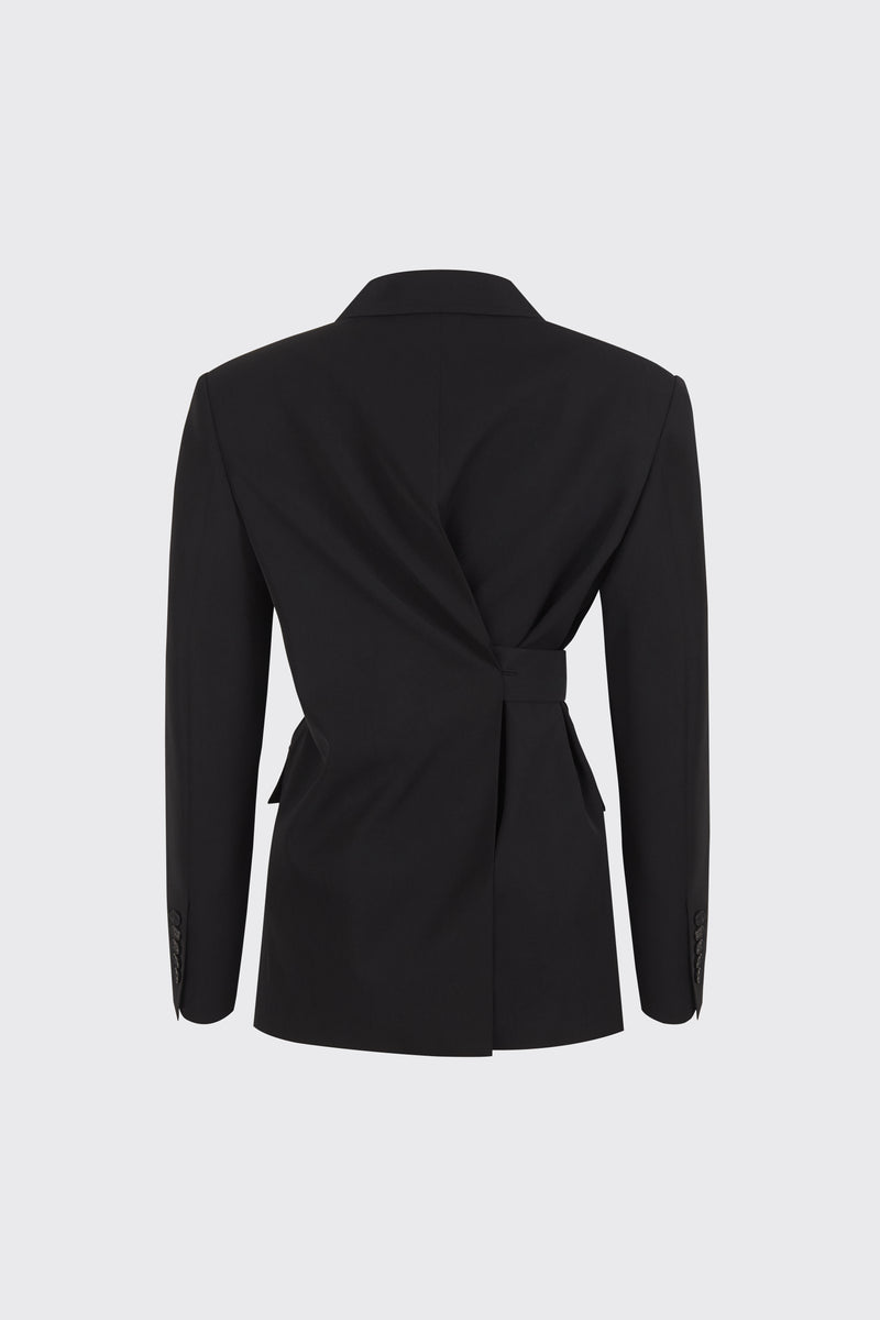 [50% OFF] Black center back slit 2-way blazer
