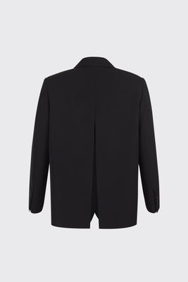 Black center back slit 2-way blazer