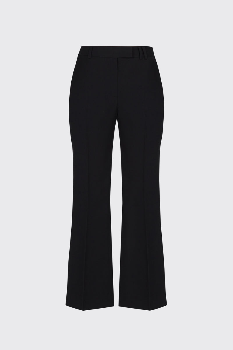 [60% OFF] Black cropped flow flare trousers