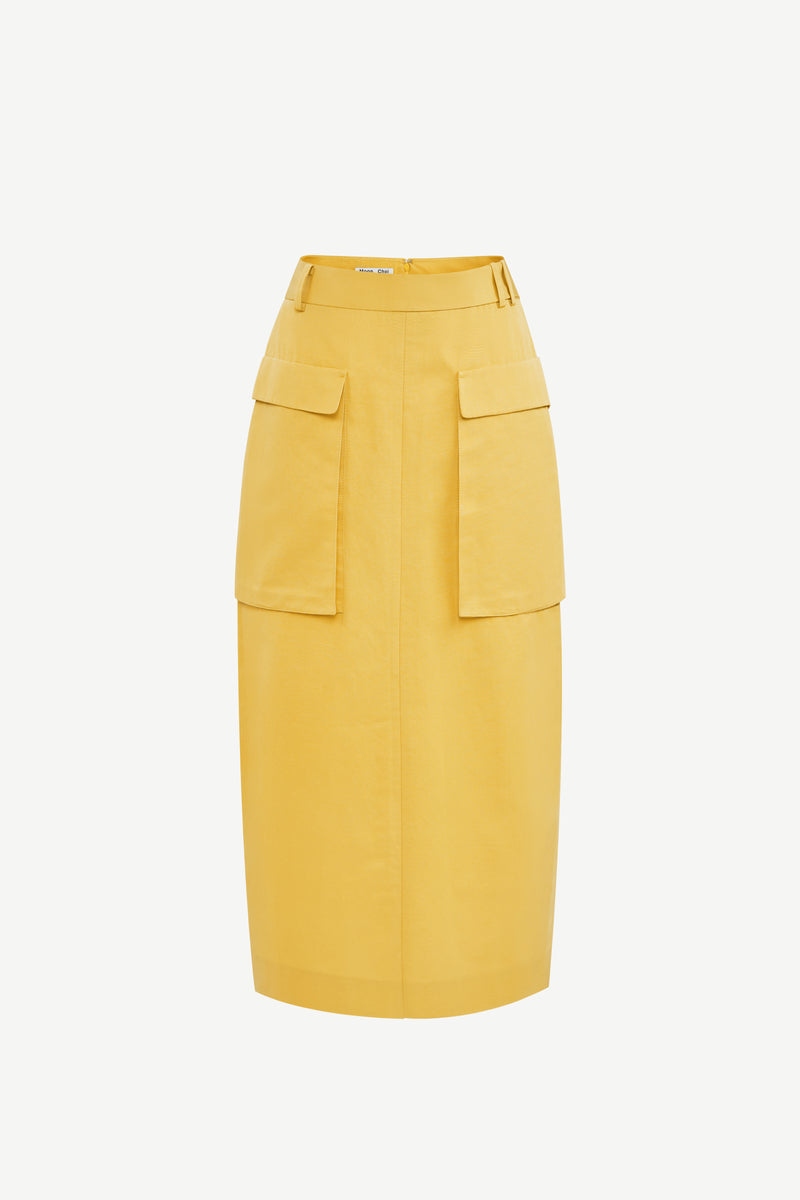 Double cargo pockets skirt