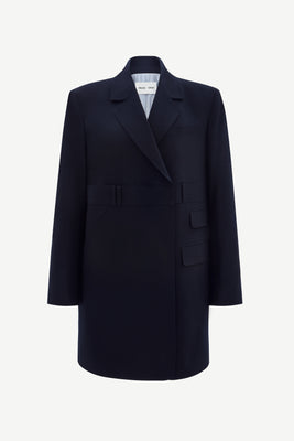 Oversized double-breast trousers blazer in navy