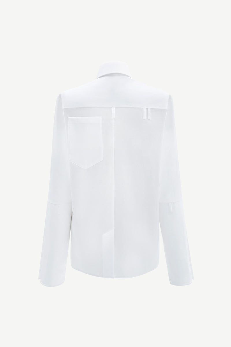 Back pocket shirt in white