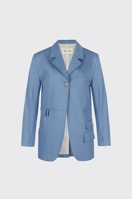 Light blue oversized trousers blazer