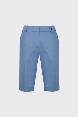 [60% OFF] Light blue cuffed slim-fit shorts