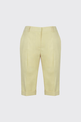 [60% OFF] Lemon cuffed slim-fit shorts