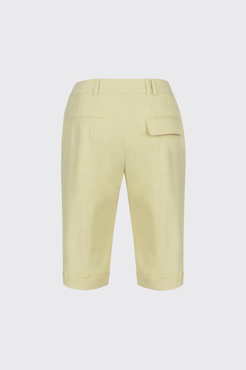 Lemon cuffed slim-fit shorts
