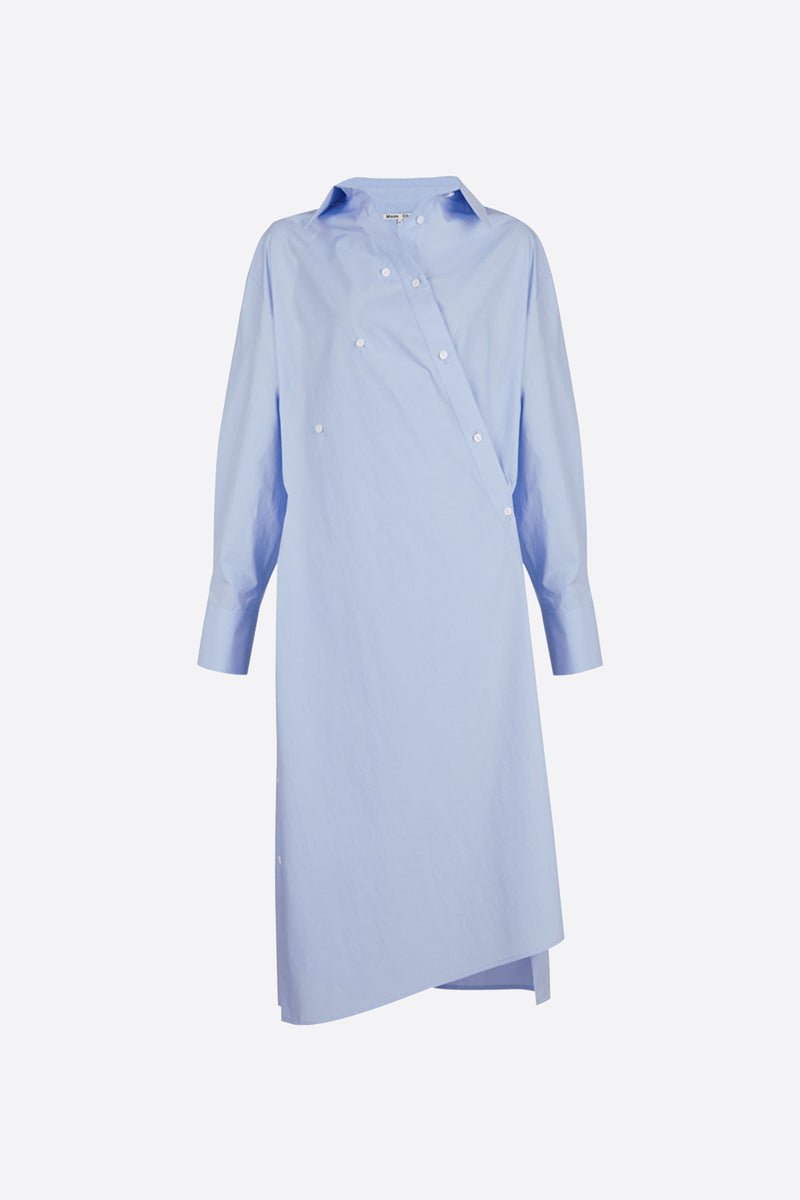 [60% OFF] Light blue overlapped shirt dress