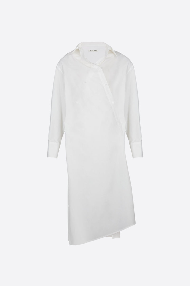 [60% OFF] White overlapped shirt dress