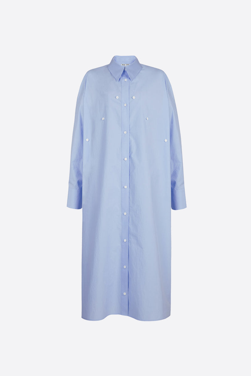 Light blue overlapped shirt dress