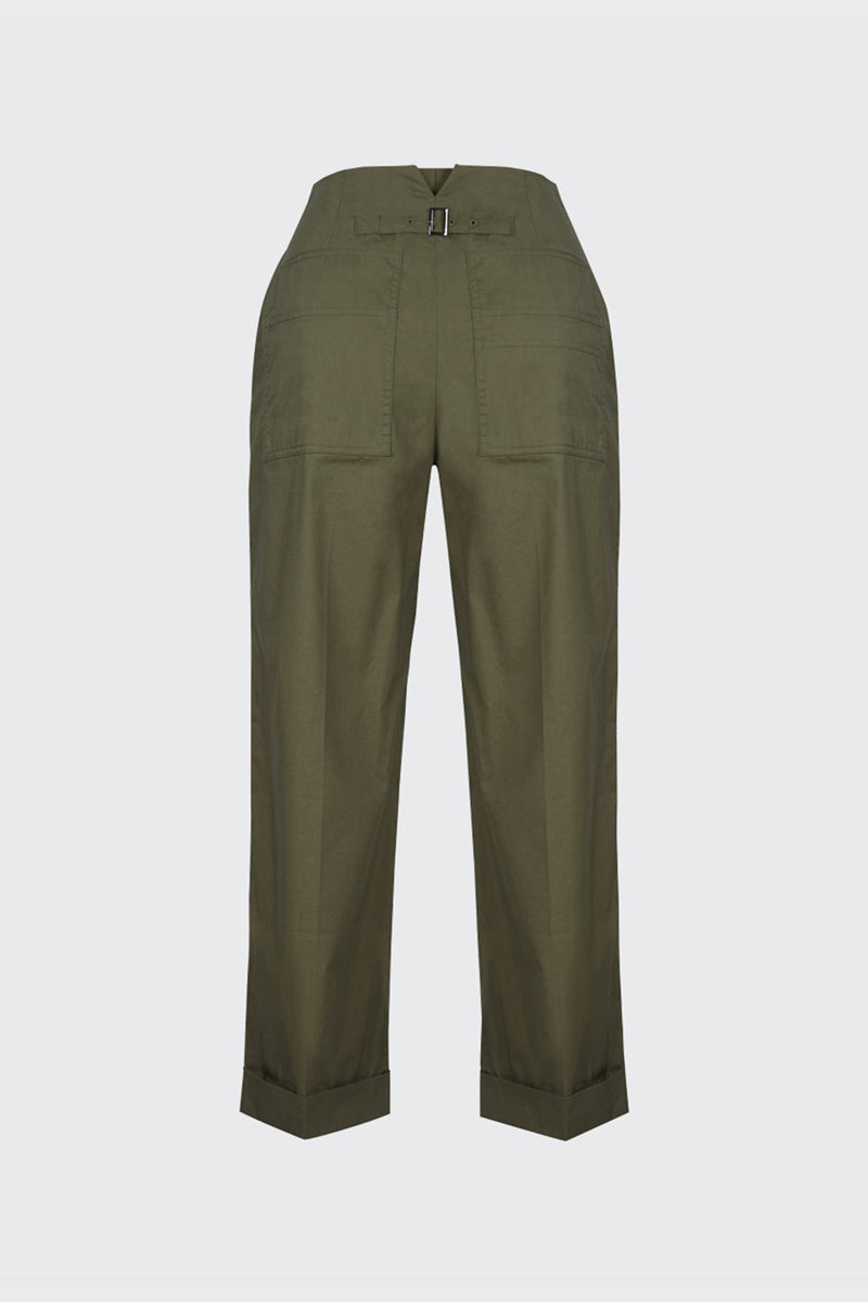 [60% OFF] Khaki archive back pocket trousers