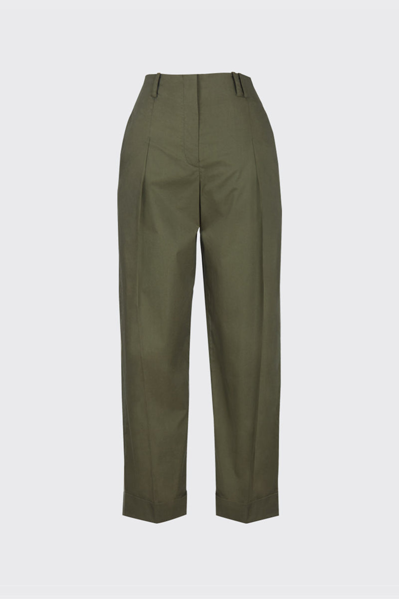 Khaki archive back pocket trousers