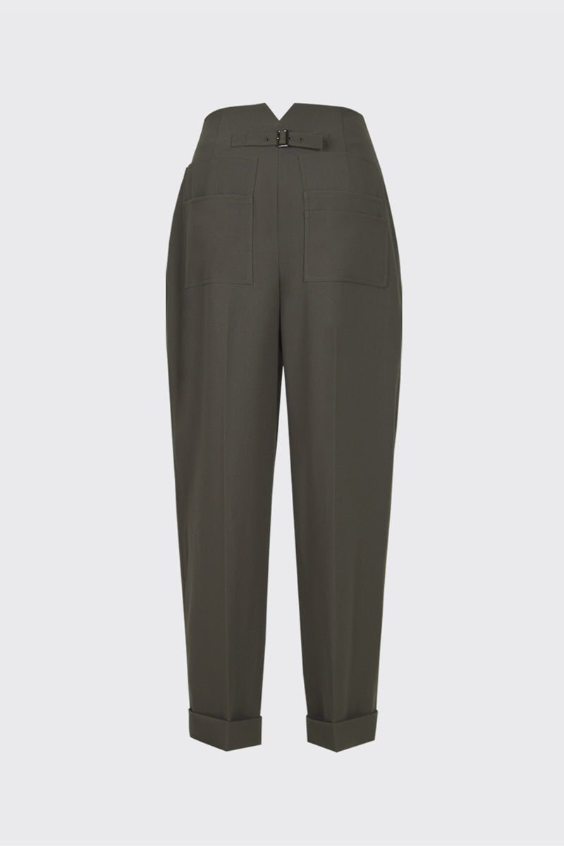 Taupe archive back pocket trousers