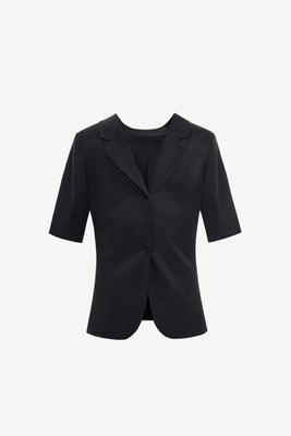Backwards tailored short sleeve blazer
