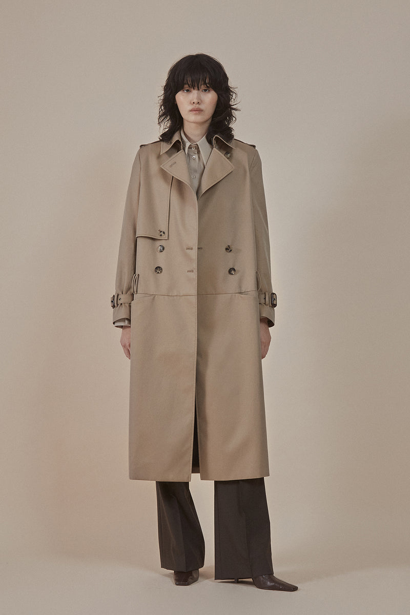 [50% OFF] Low-rise trousers trench coat