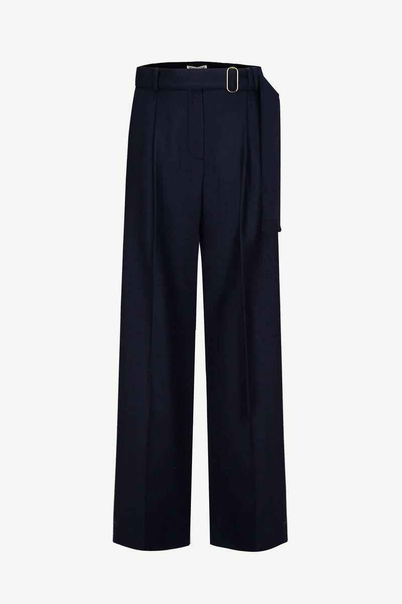 [50% OFF] Fine wool wide-leg trousers