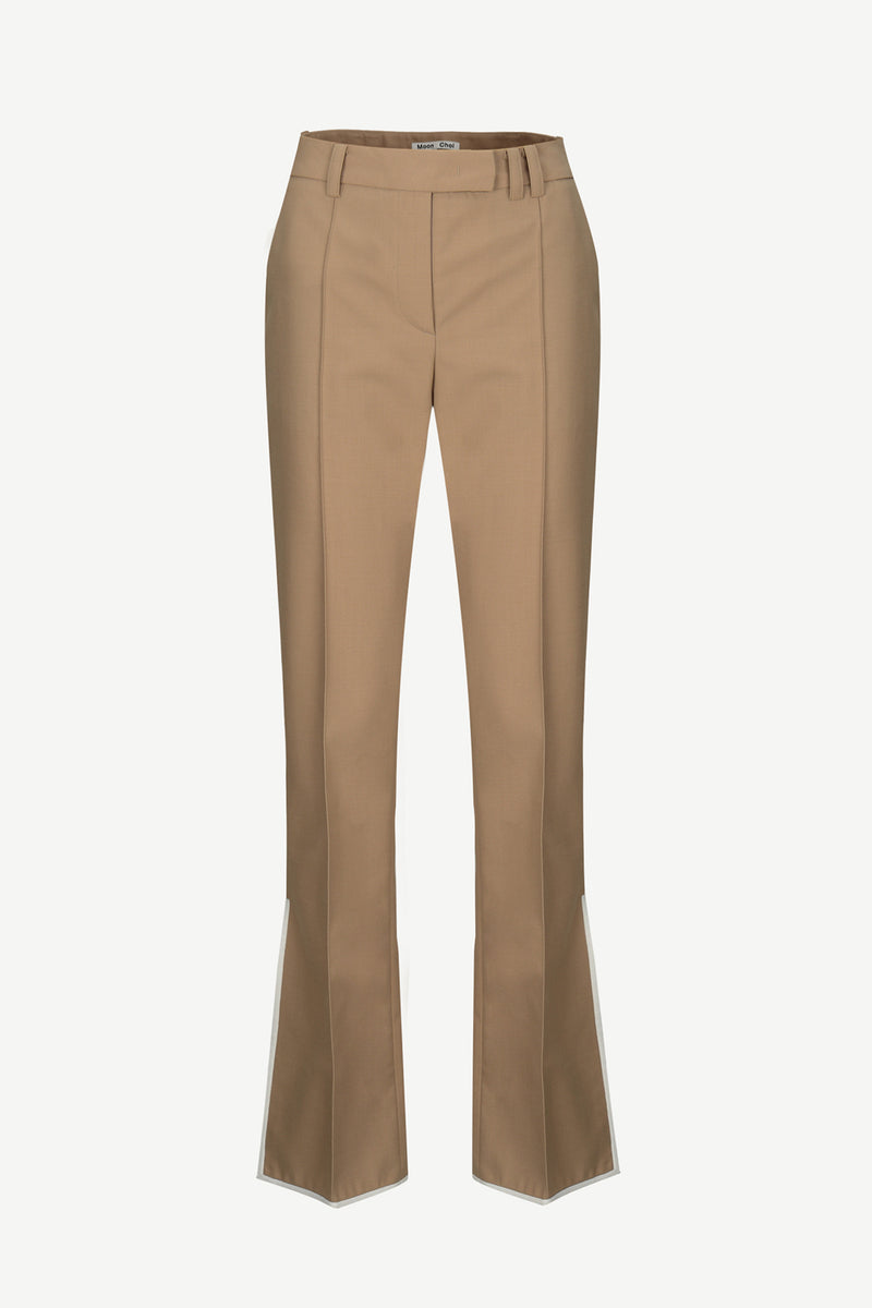 [50% OFF] Side-slit flared trousers