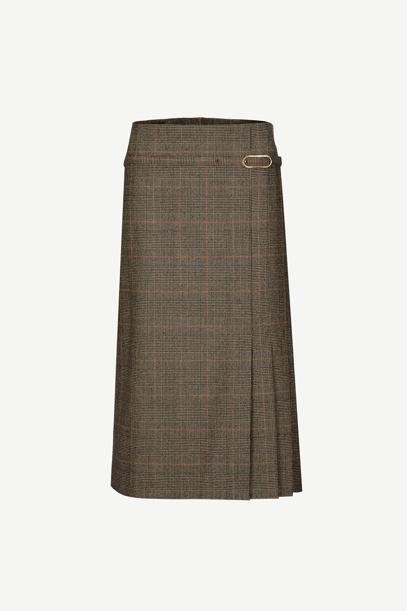 [50% OFF] 3vents vintage plaids skirt