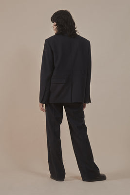 Fine wool wide-leg trousers