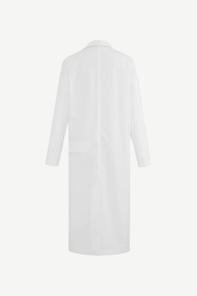 Open-collar shirt dress