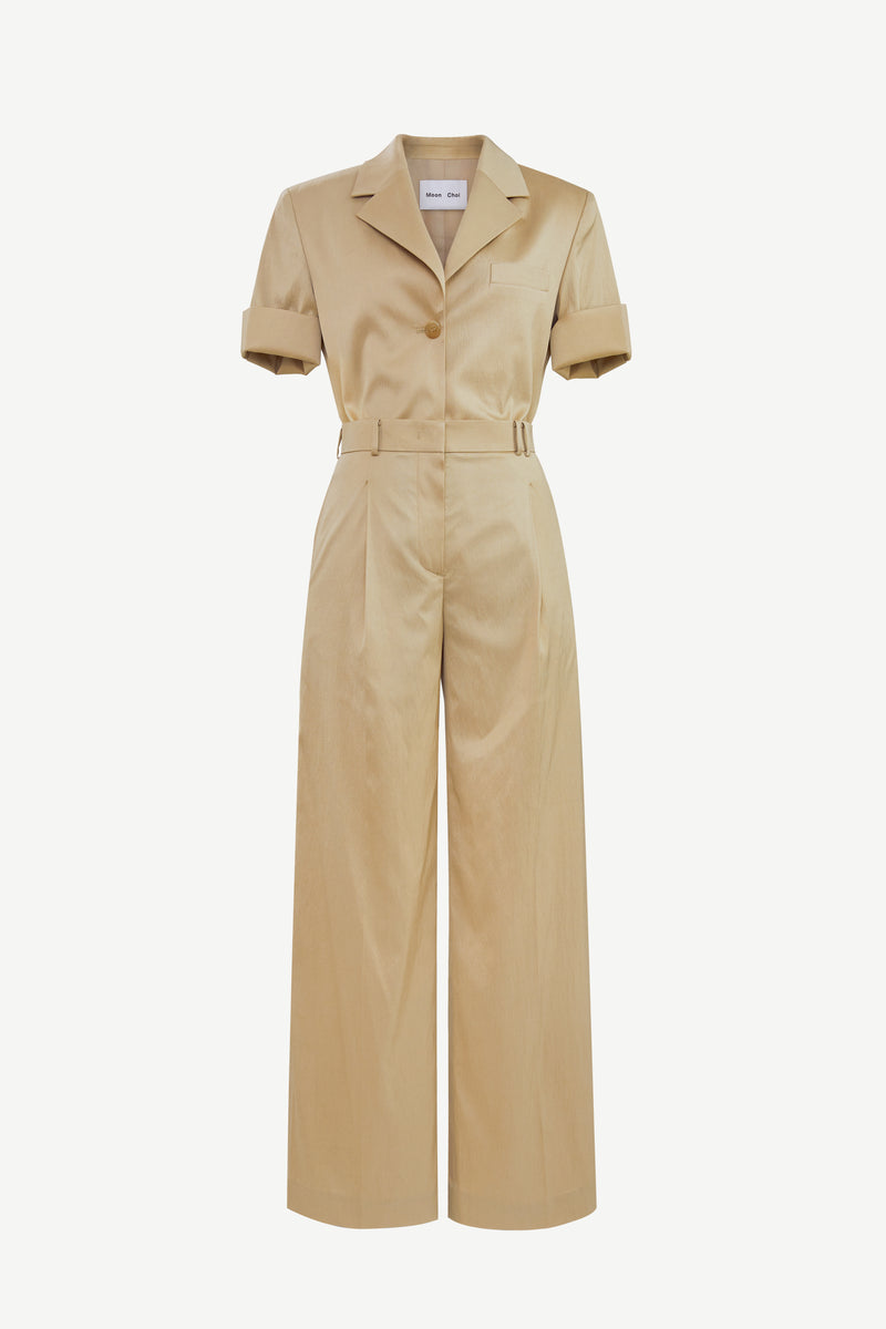Wide-leg tailored jumpsuit